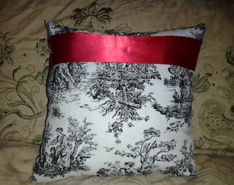 Parisian Chic Toile Throw Ring Bearer Pillow