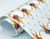 "1 Sheet Gift Wrap / Wrapping Paper 'Romantic Giraffe' 20"" x 27"""