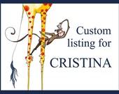Custom listing for CRISTINA