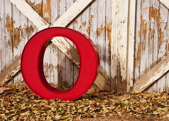 LARGE Vintage Sign Letter, Capital O, Sign Letter