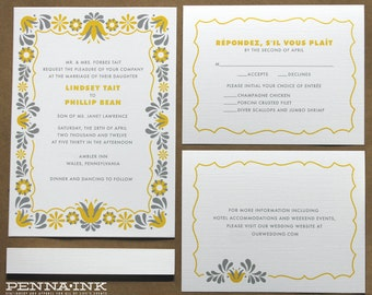 Eco Friendly PA Dutch Wedding Invitation
