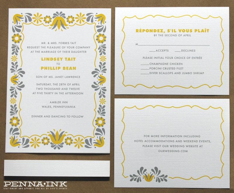 Wedding Invitations Eco Friendly: Eco Friendly PA Dutch Wedding Invitation