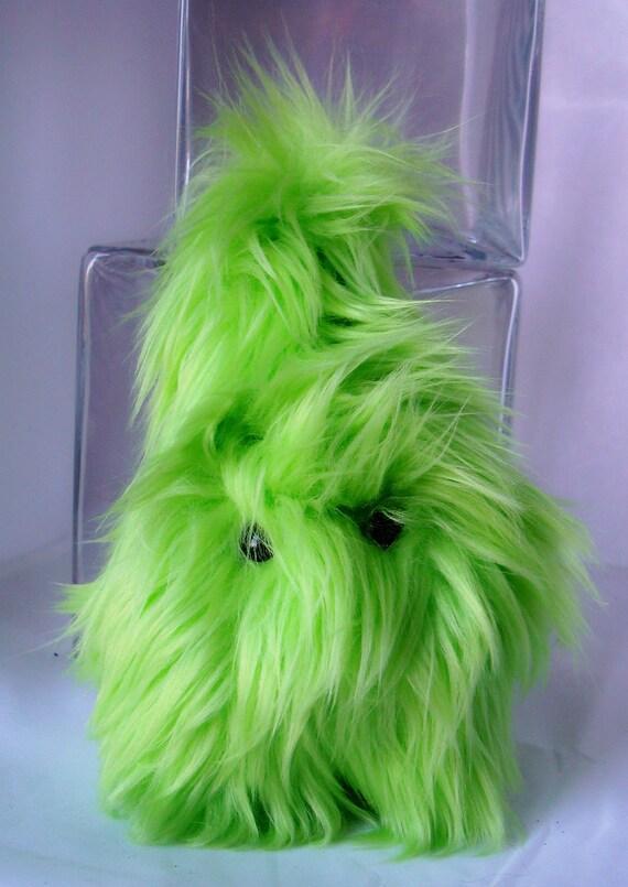 Spring-has-sprung Monstah Frazzle - Plush Stuffed Animal Monster