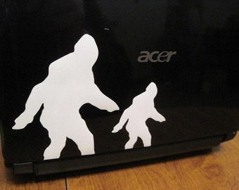 CHOOSE YOUR SIZE and Color of Sasquatch Sticker / Car Decal Also great for Macbooks and more