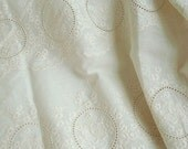 embroidered cotton (width 60cm) 1yard natural ivory 19520
