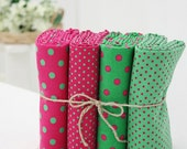 Fat Quarter polka dot cotton bundle (4ea) 28597