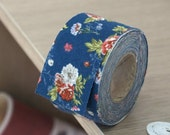 cotton bias 10yards floral  34306 blue