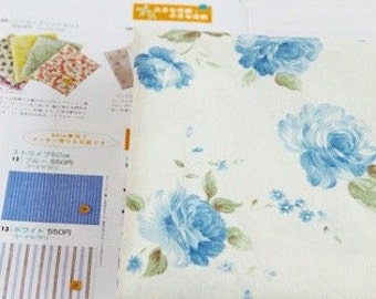 shabby blooming linen cotton blended 1yard (59 x 36 inches)17860