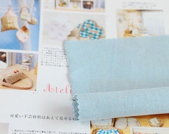 Wide Solid Linen Cotton Blend By the yard (width 55 inches) 18100 Baby Blue