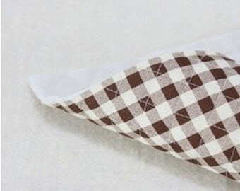 quilted 8mm check cotton 1yard (43 x 35 inches) 21960 dark brown