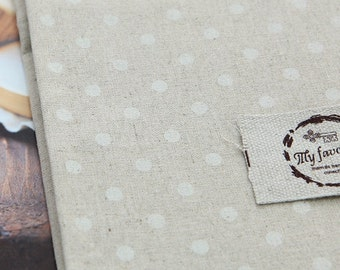 wide linen cotton blended 1yard (55 x 36 inches) 24808 dot 6mm