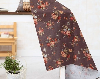 cotton by the yard (width 44 inches) 28030 dark brown