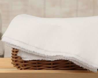 wide linen cotton blended 1yard (55 x 36 inches) 31409-4 white