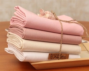 Fat Quarters Solid Linen Cotton blend Bundle (4 Pieces) 31406