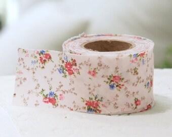 cotton bias 10yards floral  34311 pink
