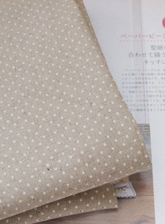 wide linen cotton blended petit dot 1yard ( 57 X 36 inches) 22744