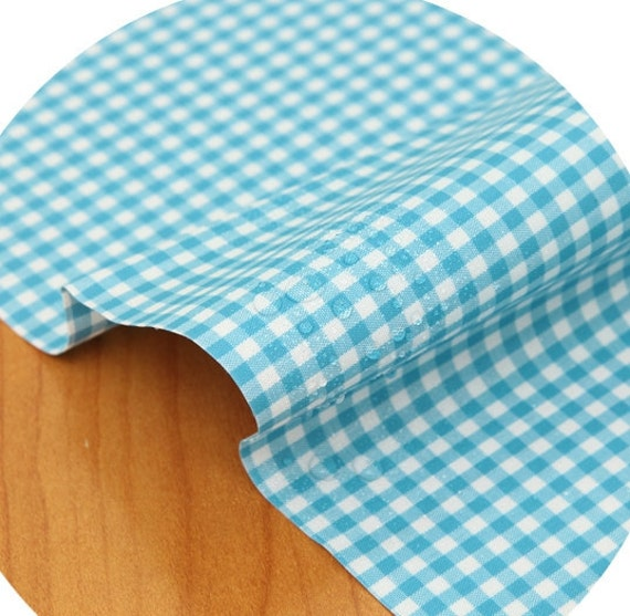 laminated  4mm check cotton 1yard (44 x 36 inches) 32373