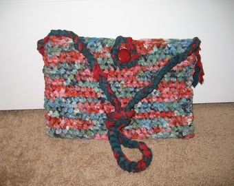Crocheted cotton hippie handbag