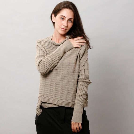 End of summer S A L E - Women Knitted jacket - brown, women clothing, women cardigan
