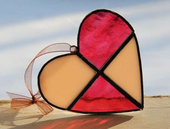 Stained Glass Heart - Handmade