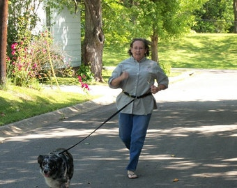 Hands Free Dog Leash Cycling, Jogging Walking 1 or 2 Dogs Free Shipping Many Colors Easy Control