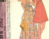 Vintage 1973 McCalls DRESS pattern 3562 Summer Comfortable BOHO easy to make Pullover Size 12