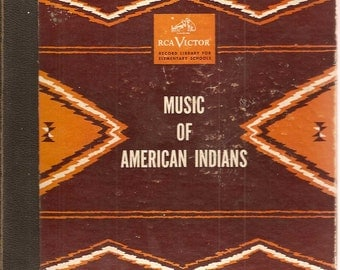 1947 Music of American Indians RCA Set of 4 45 Vinyl Records with Notes for Teachers