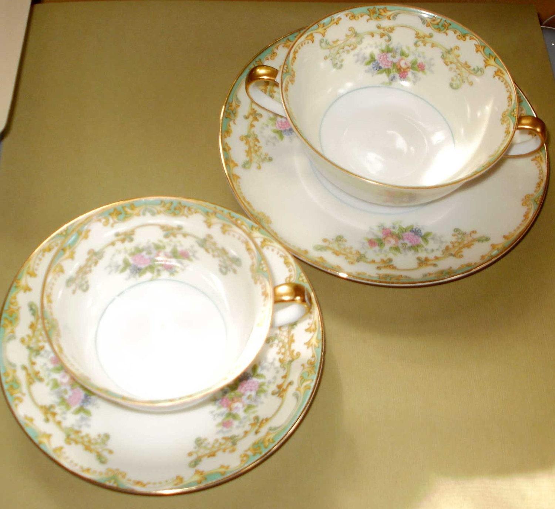 Noritake Vintage 1930s Athena Floral China Dinnerware Tea Cup