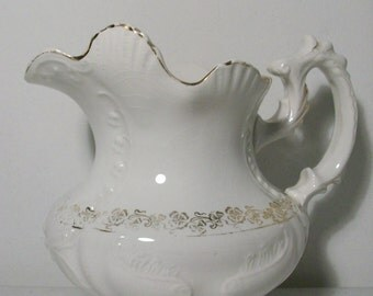 Antique Yale Gold Trim Pitcher Numbered //