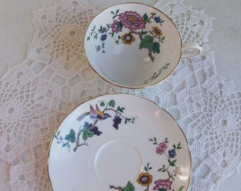 Grosvenor Tea Cup and Saucer Crown Jackson Gosling //