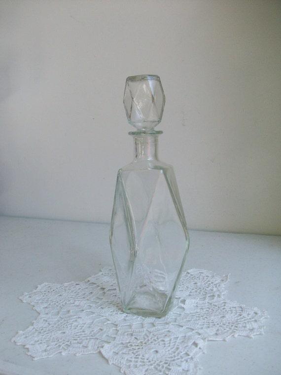 Glass Wine Liquor Decanter Diamond Stopper Bottle On Hold