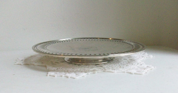 Wallace Silver Round Footed Serving Tray /