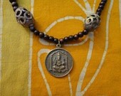 Ganesh Amulet Prayer Bead Necklace