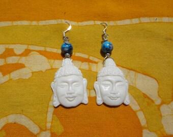 Beaded Buddha Head Earrings
