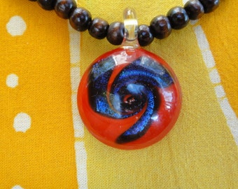 Red Rainbow Prayer Bead Necklace