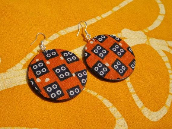 Hot Roots Batik Fabric Earrings