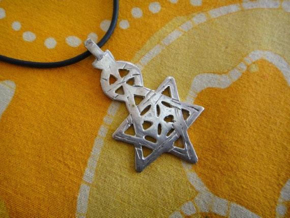 Ethiopian Star of David Pendant Necklace