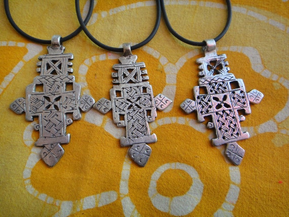 Big Ethiopian Coptic Cross Pendant