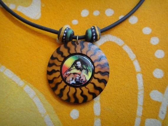 Bob Marley African Rasta Bead Necklace