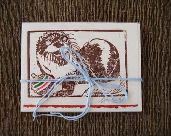 River otter holiday card, 5 pack