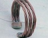 Trinity Recycled Copper Cuff  Bracelet