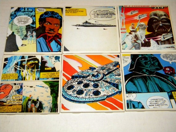 Star Wars The Empire Strikes Back Comic Wall Art or Coaster Set of 6 (01)