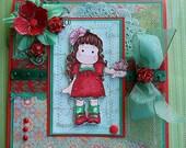 On Sale - Magnolia 'Butterfly Tilda' - Handmade Card