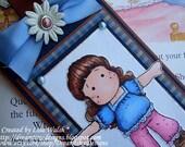 On Sale - Magnolia - 'Thankful Tilda' - Handmade Bookmark
