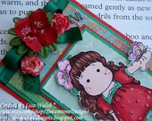 On Sale - Magnolia 'Butterfly Tilda' - Handmade Bookmark