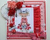 Some Bunny Loves You - Valentine - Love - Handmade Card
