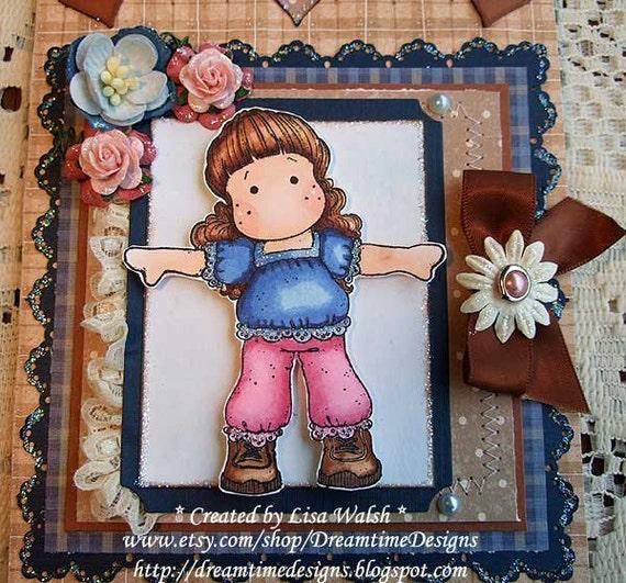 On Sale - Magnolia 'Thankful Tilda' - Handmade Spiral Notebook