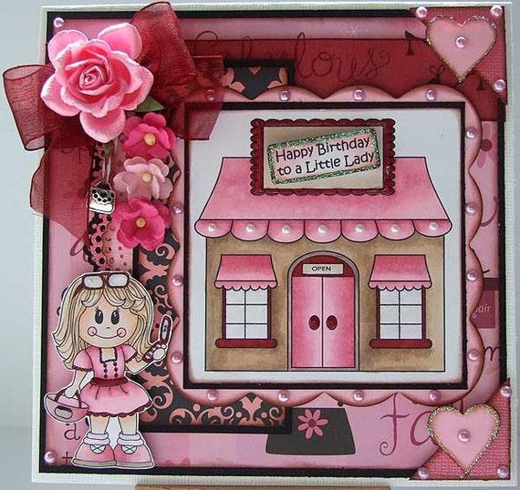 happy birthday to a little lady handmade birthday card