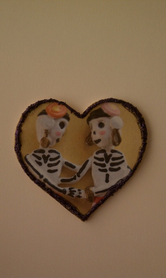 Love Day of the Dead Heart Magnet