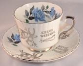 silver wedding anniversary tea cup royal stafford bone china